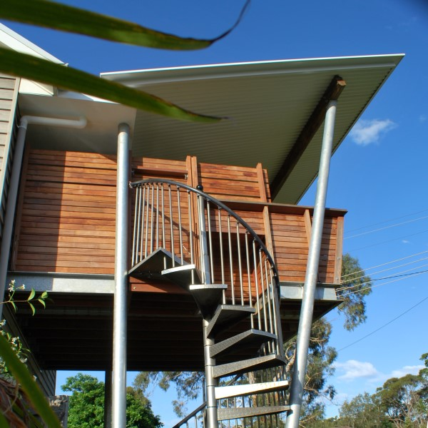 quirky deck design on the NSW South Coast